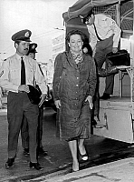 0149285 © Granger - Historical Picture ArchiveLADY AMALIA FLEMING.   Lady Amalia Fleming (Alexander Fleming's widow) here arriving at military court in Athens where she will be judged for opposition to the military regime of Zoitakis , along with Constantin Androutsopoulos and John Skelton september 30, 1971 justice proces trial femme woman. Full credit: AGIP - Rue des Archives / Granger, NYC -- All rig