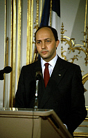 0149378 © Granger - Historical Picture ArchiveLAURENT FABIUS.   french socialist politician Laurent Fabius on march 10, 1986. Full credit: AGIP - Rue des Archives / Granger, NYC -- All Rights Reserved.