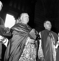 0149494 © Granger - Historical Picture ArchiveLE CARDINAL FELTIN.   Maurice Feltin becoming archbishop of Paris, here in Notre Dame cathedral on october 8, 1949. Full credit: AGIP - Rue des Archives / Granger, NYC -- All right