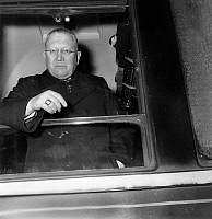 0149495 © Granger - Historical Picture ArchiveLE CARDINAL FELTIN.   In the train in the station of Lyon in Paris cardinal Maurice Feltin on january 5, 1953. Full credit: AGIP - Rue des Archives / Granger, NYC -- All rights res