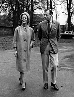 0149636 © Granger - Historical Picture ArchiveLE DUC EDOUARD OF KENT AND SA FIANCEE.   Duke Edward of Kent and his fiancee Kathearine Worsley march 18, 1961. Full credit: AGIP - Rue des Archives / Granger, NYC -- All rights re