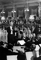 0149827 © Granger - Historical Picture ArchiveLE MAITRE FURTWANGLER.   Wilhelm Furtwangler conducting Vienna philharmonic orchestra in march 1951. Full credit: AGIP - Rue des Archives / Granger, NYC -- All rights reserved.