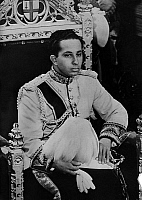 0150221 © Granger - Historical Picture ArchiveLE ROI FAISAL II D'IRAK.   The king Faisal II of Irak, king on 1939-1958, in 1956. Full credit: AGIP - Rue des Archives / Granger, NYC -- All rights reserved.