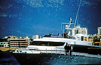 0150338 © Granger - Historical Picture ArchiveLE YACHT FORTUNA.   yacht Fortuna belonging to the royal family of Spain, april 1986. Full credit: AGIP - Rue des Archives / Granger, NYC -- All rights reserved.