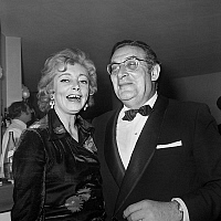 0150454 © Granger - Historical Picture ArchiveLEON ZITRONE AND SA FEMME.   Nuit du Cinema (movie prize giving) in Paris on november 26, 1971 : Leon Zitrone and his wife Laura Zitrone. Full credit: AGIP - Rue des Archives / Granger, NYC -- All Rights Reserved.
