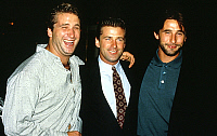 0150632 © Granger - Historical Picture ArchiveLES FRERES BALDWIN.   brothers Baldwin l-r Daniel Alec and William at presentation of tvmovie The Preppie Murder 1989. Full credit: AGIP - Rue des Archives / Granger, NYC -- All ri.