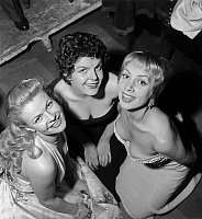 0150780 © Granger - Historical Picture ArchiveLES PLUS BEAUX DECOLLETES OF PARIS.   Anne-Marie Mersen, Claude Sylvain (c) and Daniele Lamar winner of party for most beautiful cleavage on july 29, 1954. Full credit: AGIP - Rue des Archives / Granger, NYC -- All rights reserved.