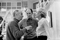 0151329 © Granger - Historical Picture ArchiveLOUIS OF FUNES.   actors Louis de Funes and Claude Gensac with director Jean Girault on set of film Jo, 1971. Full credit: AGIP - Rue des Archives / Granger, NYC -- All rights rese