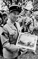 0151331 © Granger - Historical Picture ArchiveLOUIS OF FUNES.   Louis de Funes and staff of film Les Gendarmes a Saint Tropez, are the guests of the 405th antiaircraft artillery regiment in Hyeres, and receive the rank of cannoniers d'honneur july 01, 1970. Full credit: AGIP - Rue des Archives / Granger, NYC -- All rights reserved.