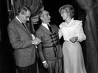 0151355 © Granger - Historical Picture ArchiveLOUIS OF FUNES, MONY DALMES, JEAN ANOUILH.   Louis de Funes, Mony Dalmes during rehearsal of the play La valse des Toreadors in Paris with author Jean Anouilh on october 16, 1973. Full credit: AGIP - Rue des Archives / Granger, NYC -- All Rights Reserved.