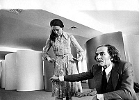0151888 © Granger - Historical Picture ArchiveMAIA PLISSETSKAIA AND PIERRE CARDIN.   Russian dancer Maia Plissetskaia at Pierre Cardin's shop in Paris during clothes fitting for the dancers' costumes in the ballet Anna Karenine in Moscow august 17, 1971. Full credit: AGIP - Rue des Archives / Granger, NYC -- All rights reserved.