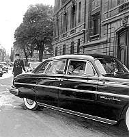 0152469 © Granger - Historical Picture ArchiveMARECHAL JUIN.   french minister of national defence RenePleven received marshal Alphonse Juin for talks at the ministry here in the car leaving the ministry september 4, 1953 at the time of war in Indochina. Full credit: AGIP - Rue des Archives / Granger, NYC -- All rights reserved.