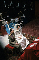 0152718 © Granger - Historical Picture ArchiveMARIAGE OF BAUDOUIN AND FABIOLA.   Wedding of king Baudouin 1st and Dona Fabiola de Mora y de Aragon (thus becoming queen Fabiola) in Brussels december 12, 1960. Full credit: AGIP - Rue des Archives / Granger, NYC -- All rights reserved.