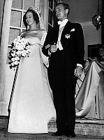0152731 © Granger - Historical Picture ArchiveMARIAGE OF BENEDIKTE OF DANEMARK.   Wedding of princess Benedikte of Denmark and Richard, 6th Prince of Sayn-Wittgenstein-Berleburg, on february 3, 1968, Fredensborg Palace. Full credit: AGIP - Rue des Archives / Granger, NYC -- All rights
