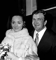 0152865 © Granger - Historical Picture ArchiveMARIAGE OF PIERRE MONDY AND ANNIE FOURNIER.   wedding of Annie Fournier and Pierre Mondy in Paris december 16, 1967. Full credit: AGIP - Rue des Archives / Granger, NYC -- All righ