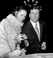 0152867 © Granger - Historical Picture ArchiveMARIAGE OF PIERRE MONDY AND ANNIE FOURNIER.   wedding of Annie Fournier and Pierre Mondy in Paris december 16, 1967, here signing the weddings book. Full credit: AGIP - Rue des Archives / Granger, NYC -- All rights reserved.