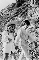 0152952 © Granger - Historical Picture ArchiveMARIANNE FAITHFULL.   singers Mick Jagger and Marianne Faithfull in San Remo january 29, 1967. Full credit: AGIP - Rue des Archives / Granger, NYC -- All rights reserved.