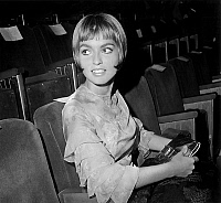 0153023 © Granger - Historical Picture ArchiveMARIE FRANCE PISIER.   Marie France Pisier at gala for film Marked Eyes in Paris september 05, 1964. Full credit: AGIP - Rue des Archives / Granger, NYC -- All rights reserved.