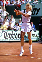 0153347 © Granger - Historical Picture ArchiveMARTINA NAVRATILOVA.   american-czech tenniswoman Martina Navratilova in final of Roland Garros tennis tournament in 1985. Full credit: AGIP - Rue des Archives / Granger, NYC -- All Rights Reserved.