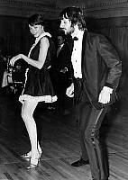 0153888 © Granger - Historical Picture ArchiveMIA FARROW.   actress Mia Farrow and Beatles musician Ringo Starr dancing at party in Dorchester march 24, 1968. Full credit: AGIP - Rue des Archives / Granger, NYC -- All rights r