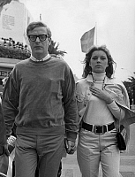 0153895 © Granger - Historical Picture ArchiveMICHAEL CAINE.   English actor Michael Caine walking on the croisette with his fiancee Betsy Motte during 20th Cannes film festival where was presented his new film Alfie in may 1966. Full credit: AGIP - Rue des Archives / Granger, NYC -- All Rights Reserved.