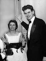 0154607 © Granger - Historical Picture ArchiveMIKIS THEODORAKIS AND SA FEMME.   Mikis Theodorakis and his wife in theatre in Paris for ballet with LudmillaTcherina (he wrote the music) february 20, 1959. Full credit: AGIP - Rue des Archives / Granger, NYC -- All rights reserved.