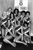 0154908 © Granger - Historical Picture ArchiveMISS FRANCE 1977.   candidates to the Miss France 1977 beauty contest, among whom the winner Veronique Fagot december 21, 1976. Full credit: AGIP - Rue des Archives / Granger, NYC -- All Rights Reserved.