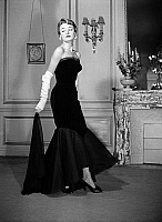 0155367 © Granger - Historical Picture ArchiveMODE JACQUES FATH.   Presentation on february 24, 1950 of fashion by Jacques Fath : black bustier dress. Full credit: AGIP - Rue des Archives / Granger, NYC -- All rights reserved.