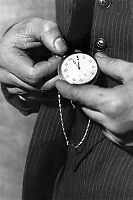 0155695 © Granger - Historical Picture ArchiveMONTRE.   fob pocket watch. Full credit: AGIP - Rue des Archives / Granger, NYC -- All rights reserved.
