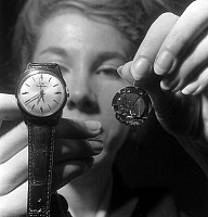 0155696 © Granger - Historical Picture ArchiveMONTRE ELECTRONIQUE.   1st electronic watch (french) on march 28, 1963. Full credit: AGIP - Rue des Archives / Granger, NYC -- All Rights Reserved.