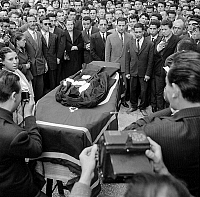 0156286 © Granger - Historical Picture ArchiveOBSEQUES OF MAITRE OULD AOUDIA.   Funeral of Ould Aoudia, lawyer of the FLN (National Liberation Front), murdered in Marseille, June 1st, 1959. Full credit: AGIP - Rue des Archives / Granger, NYC -- All rights reserved.