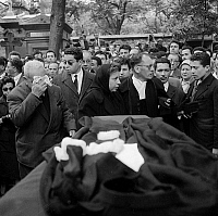 0156287 © Granger - Historical Picture ArchiveOBSEQUES OF MAITRE OULD AOUDIA.   Funeral of Ould Aoudia, lawyer of the FLN (National Liberation Front), murdered in Marseille, june 1st, 1959 : here his parents and brothers. Full credit: AGIP - Rue des Archives / Granger, NYC -- All right