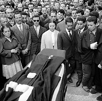 0156289 © Granger - Historical Picture ArchiveOBSEQUES OF MAITRE OULD AOUDIA.   Funeral of Ould Aoudia, lawyer of the FLN (National Liberation Front), murdered in Marseille, June 1st, 1959. Full credit: AGIP - Rue des Archives / Granger, NYC -- All rights reserved.
