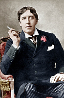0156503 © Granger - Historical Picture ArchiveOSCAR WILDE.   Irish writer Oscar Wilde (1854-1900)photo Alfred Ellis & Walery c. 1892 colorized document. Full credit: AGIP - Rue des Archives / Granger, NYC -- All rights reserve