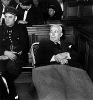 0156953 © Granger - Historical Picture ArchivePAUL FARGE.   Paul Farge, french government's commissioner for the State Court and former colonel of military justice, here during his trial december 29, 1949. Full credit: AGIP - Rue des Archives / Granger, NYC -- All rights reserved.