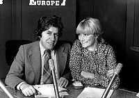 0157324 © Granger - Historical Picture ArchivePHILIPPE GILDAS AND SA FEMME MARYSE.   French presenter Philippe Gildas and his wife Maryse during a radioprogram on september 1st, 1978. Full credit: AGIP - Rue des Archives / Granger, NYC -- All Rights Reserved.