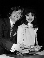 0157588 © Granger - Historical Picture ArchivePIERRE FABRE AND ANNA KARINA.   Director Pierre Fabre and his wife actress Anna Karina at the town hall for their wedding on february 12, 1968 in Paris. Full credit: AGIP - Rue des Archives / Granger, NYC -- All rights reserved.