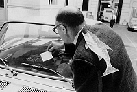 0157998 © Granger - Historical Picture ArchivePOISSON D' AVRIL.   Paper fish stuck in the back for april fool 's joke in Paris march 30, 1972. Full credit: AGIP - Rue des Archives / Granger, NYC -- All rights reserved.