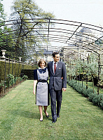 0158177 © Granger - Historical Picture ArchivePRINCESSE ASTRID OF BELGIQUE AND L'ARCHIDUC LORENZ D'AUTRICHE.   Princess Astrid of Belgium (daughter of AlbertofLiege future king AlbertII andPaola) with his fiance archduke Lorenz of Austria Este on may 12, 1984 in Belvedere gardens in Brussels for announcing of their engagement. Full credit: AGIP - Rue des Archives / Granger, NYC -- All rights reserved.
