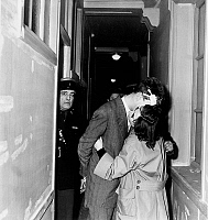 0158317 © Granger - Historical Picture ArchivePROCES JACQUES FESCH.   Jacques Fesch trial (he killed a policeman) France march 3, 1954 here with his wife Pierrette. Full credit: AGIP - Rue des Archives / Granger, NYC -- All ri.