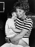 0158792 © Granger - Historical Picture ArchiveREGINE BLAESS WITH SA FILLE VANESSA.   Actress Regine Blaess with her daughter Vanessa in her flat near Montmartre, may 5, 1976. Full credit: AGIP - Rue des Archives / Granger, NYC -- All Rights Reserved.