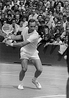 0159515 © Granger - Historical Picture ArchiveROD LAVER.   The tennisman Rod laver (winner) during the final of the Roland Garros championship against KenRosewall, 1969. Full credit: AGIP - Rue des Archives / Granger, NYC -- All Rights Reserved.