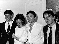 0159921 © Granger - Historical Picture ArchiveSACHA DISTEL.   Sacha Distel with his wife Francine Breaud and their two sons apres his show at the Olympia in 1985. Full credit: AGIP - Rue des Archives / Granger, NYC -- All righ