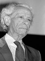 0160179 © Granger - Historical Picture ArchiveSAMUEL FULLER.   Director Samuel Fuller at prize giving on march 19, 1987. Full credit: AGIP - Rue des Archives / Granger, NYC -- All Rights Reserved.