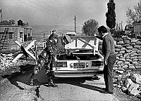 0160717 © Granger - Historical Picture ArchiveSOLDAT OF L'ONU A BEYROUTH.   Beirut (Lebanon) a finnish soldier of UNO controlling a car december 1982. Full credit: AGIP - Rue des Archives / Granger, NYC -- All rights reserved.