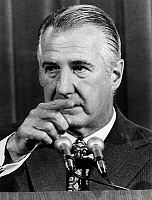 0160887 © Granger - Historical Picture ArchiveSPIRO AGNEW.   Spiro Agnew, american vice-president, condemned for tax fraud by Baltimore court, resigning on october 11, 1973. Full credit: AGIP - Rue des Archives / Granger, NYC -- All Rights Reserved.