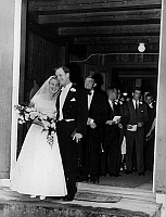 0160975 © Granger - Historical Picture ArchiveSTEVEN ROCKEFELLER.   Wedding of Steven Rockefeller and his former secretary Mary Rasmusen in Norway on august 22, 1959. Behind his the father of the bride. Full credit: AGIP - Rue des Archives / Granger, NYC -- All rights reserved.