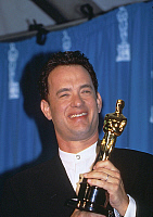 0161387 © Granger - Historical Picture ArchiveTOM HANKS.   Tom Hanks with best actor Academy Awards for his part in film Forrest Gump 1995. Full credit: AGIP - Rue des Archives / Granger, NYC -- All rights reserved.