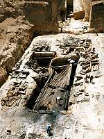 0161403 © Granger - Historical Picture ArchiveTOMBE OF SHIH HUANG TI.   182 coffins of immolated slaves found in the tomb of Zheng, also known as Shih Huang Ti (c.259 BC-210 BC) also referred to as Ch'in Shih Huang Ti or Qinshihuang first emperor to unify China, in Shaanxi Province , picture june 20, 1986 art chinois chinese sacrifice humain human. Full credit: AGIP - Rue des Archives / The Granger C