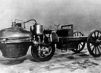 0162104 © Granger - Historical Picture ArchiveVOITURE A VAPEUR OF CUGNOT.   Model of a steam car invented by military engineer Cugnot in 1770. Full credit: AGIP - Rue des Archives / Granger, NYC -- All rights reserved.